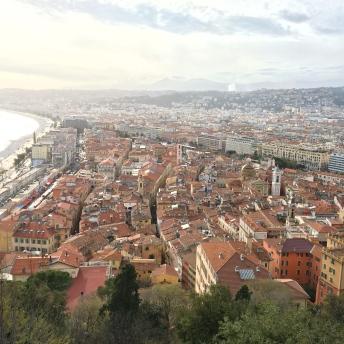 Výhled na staré město z Castle Hill
