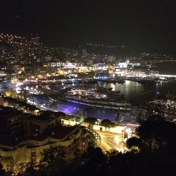 Večerní výhled na Monaco