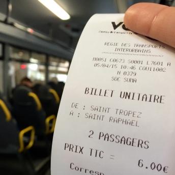 Autobus ze St. Raphael do St. Tropez