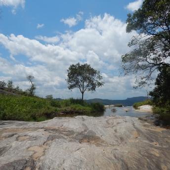 Výhled z vrcholu vodopádu