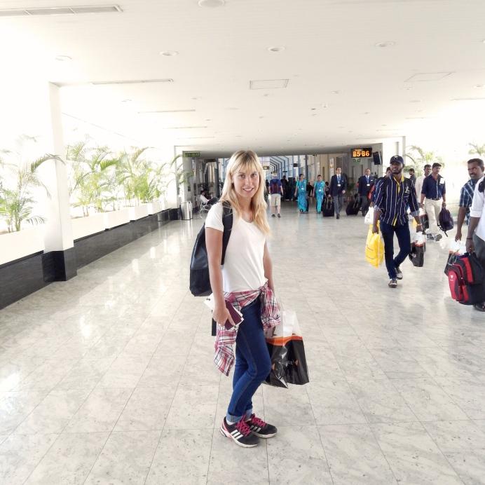 Na letišti před cestou