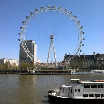 London Eye z protější strany
