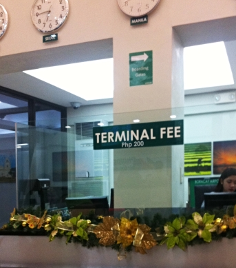 Terminal Fee na Caticlan